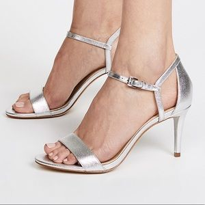 Michael Kors Simone Mid Sandals - Silver, Size 7